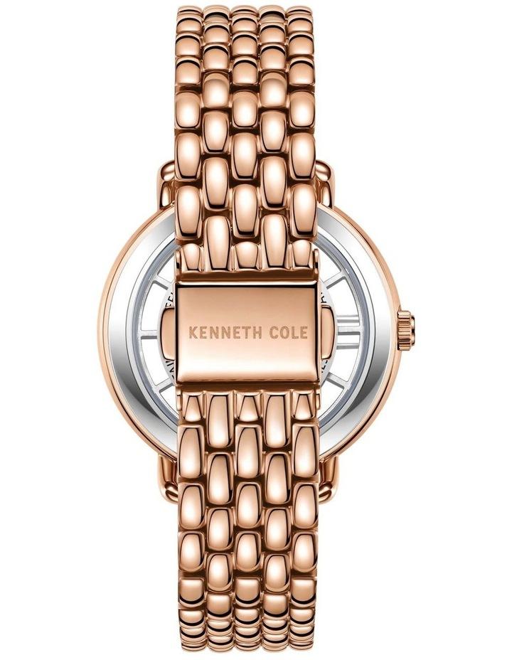KC50790002 Transparency Ladies Rose Gold Watch image 3