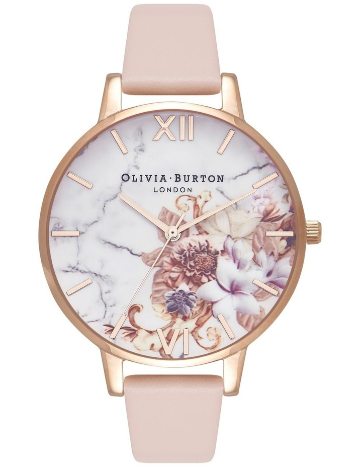 OB16CS12 Marble Florals Rose Gold Watch image 1