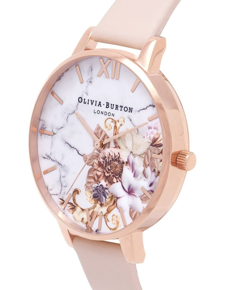 OB16CS12 Marble Florals Rose Gold Watch image 2