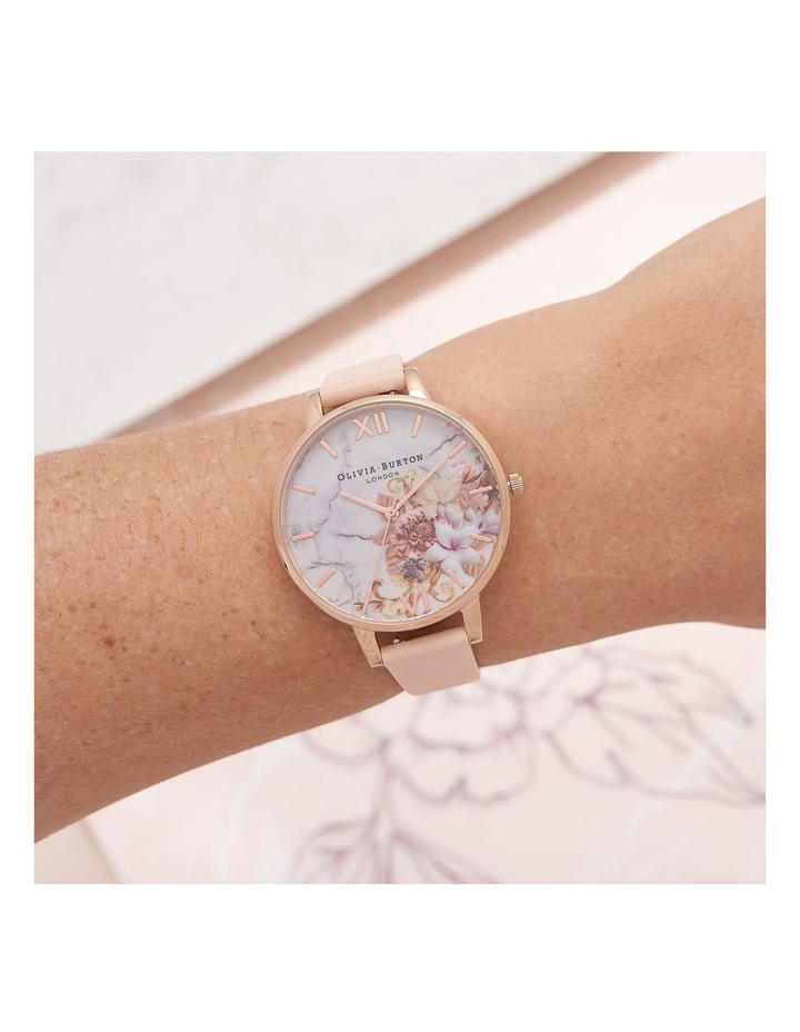 OB16CS12 Marble Florals Rose Gold Watch image 3