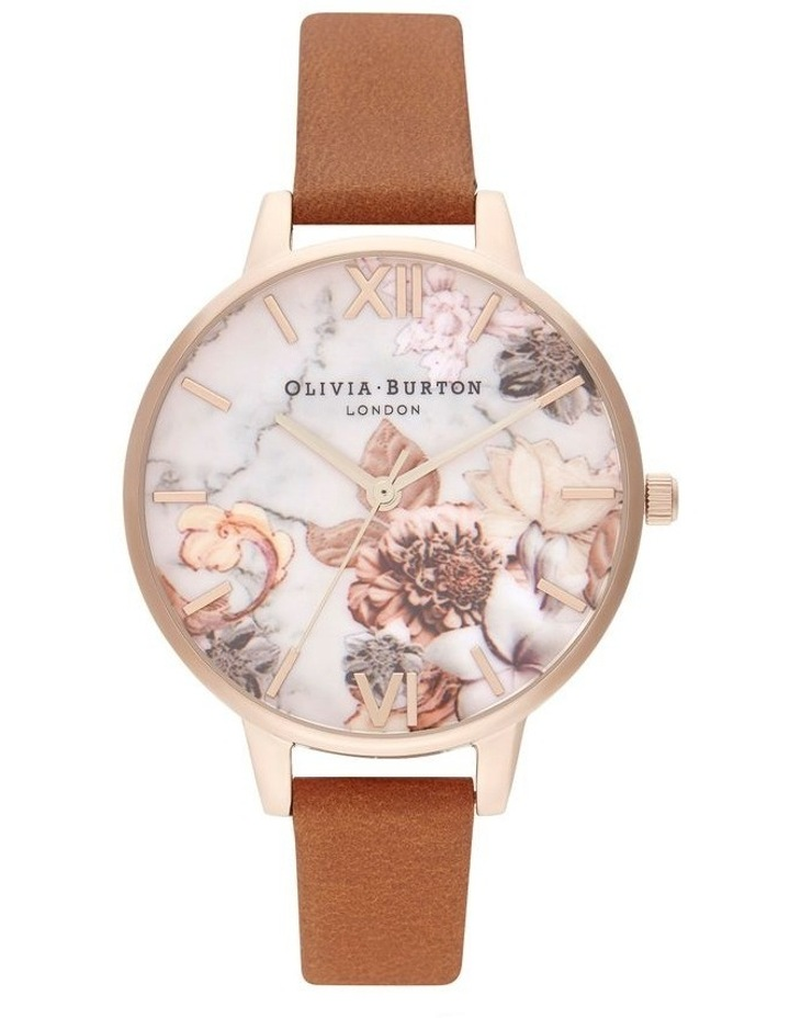 OB16CS30 Marble Florals Rose Gold Watch image 1