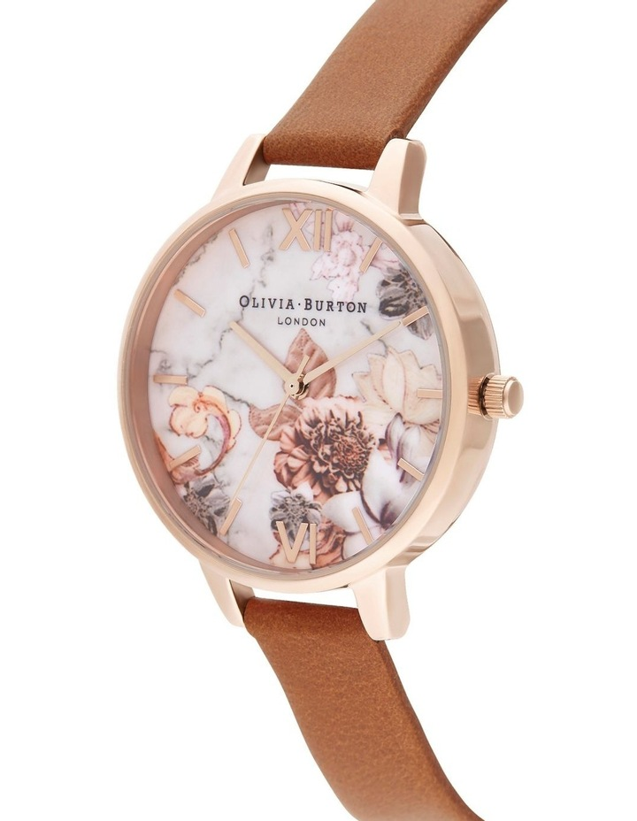OB16CS30 Marble Florals Rose Gold Watch image 2