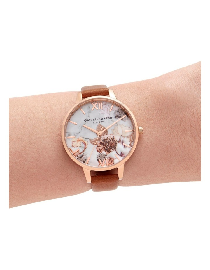 OB16CS30 Marble Florals Rose Gold Watch image 3