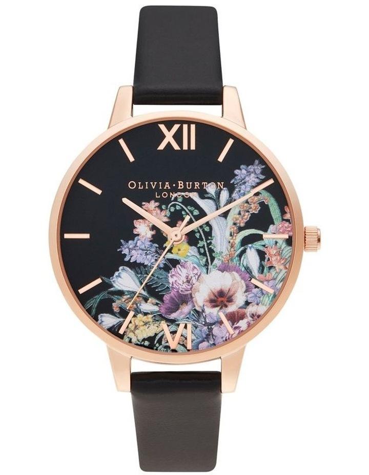 OB16EG155 Enchanted Garden Rose Gold & Black Watch image 1