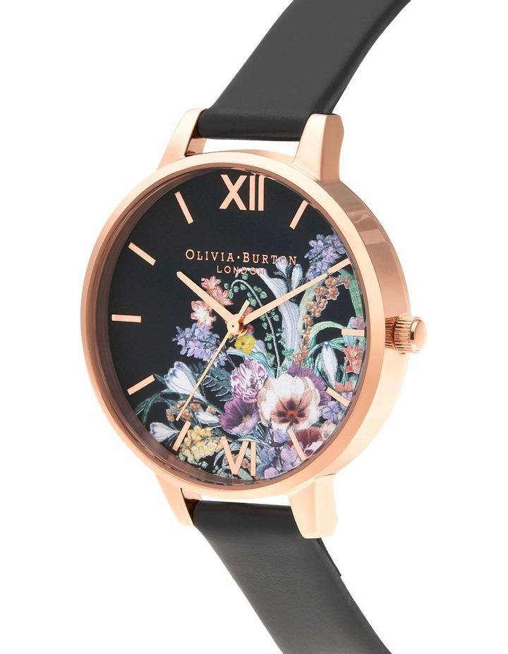 OB16EG155 Enchanted Garden Rose Gold & Black Watch image 2