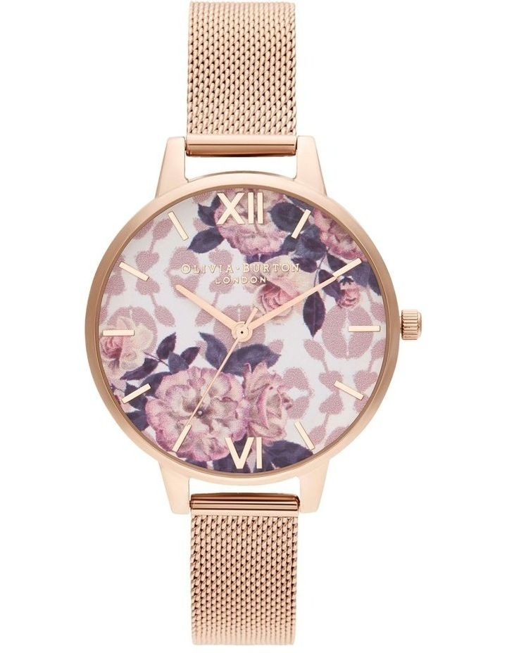 OB16LP01 Wild Flower Rose Gold Watch image 1