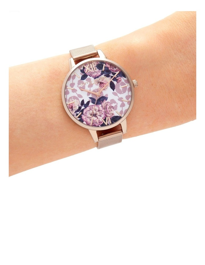OB16LP01 Wild Flower Rose Gold Watch image 3