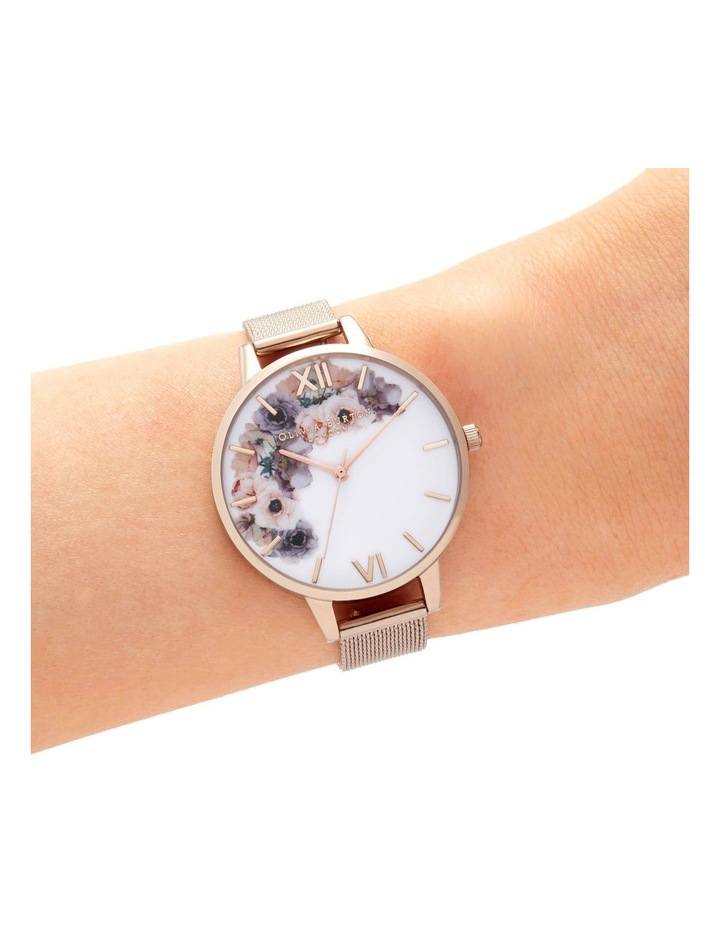 OB16PP57 Watercolour Florals Rose Gold  Watch image 2