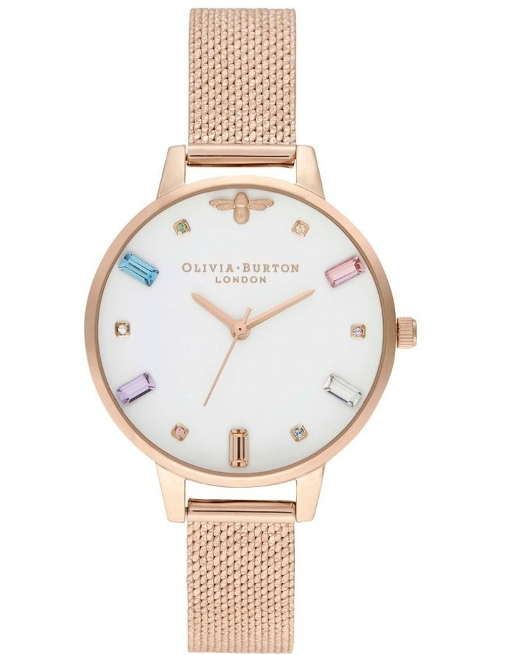 OB16RB15 Rainbow Bee Rose Gold Watch image 1