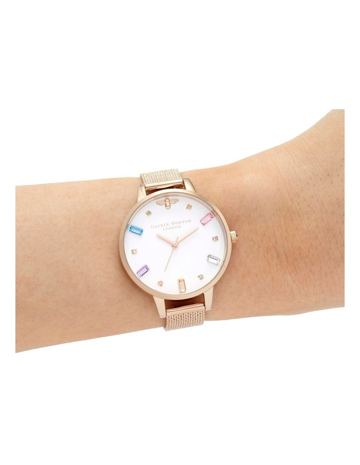 OB16RB15 Rainbow Bee Rose Gold Watch image 3