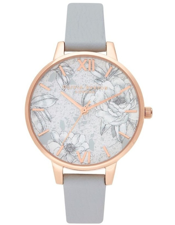 OB16TZ01 Terrazzo Floral Rose Gold & Grey Watch image 1