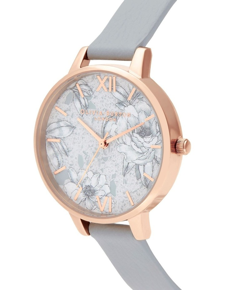 OB16TZ01 Terrazzo Floral Rose Gold & Grey Watch image 2