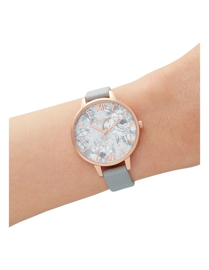 OB16TZ01 Terrazzo Floral Rose Gold & Grey Watch image 3