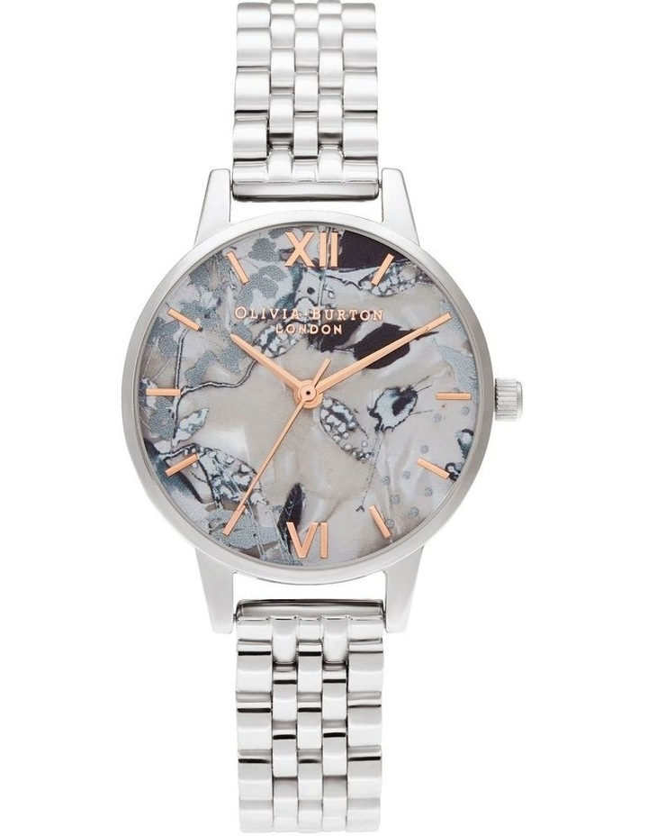 OB16VM38 Abstract Florals Silver Watch image 1