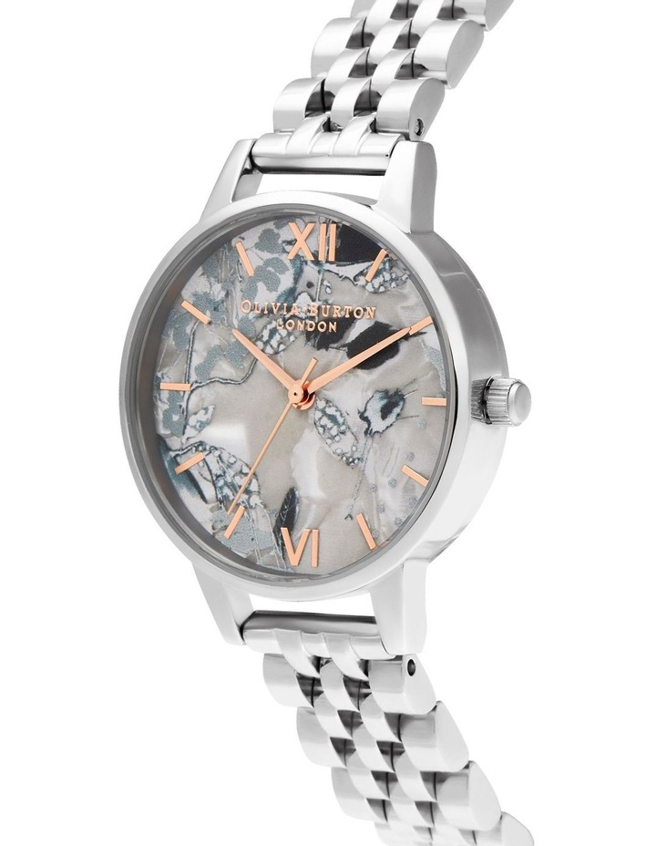 OB16VM38 Abstract Florals Silver Watch image 2