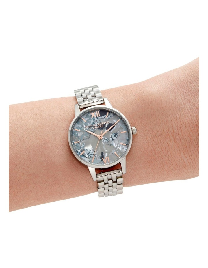 OB16VM38 Abstract Florals Silver Watch image 3