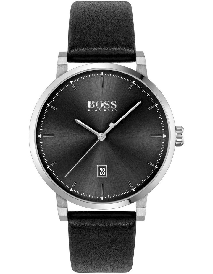 Black Leather Men's Watch - 1513790 image 1