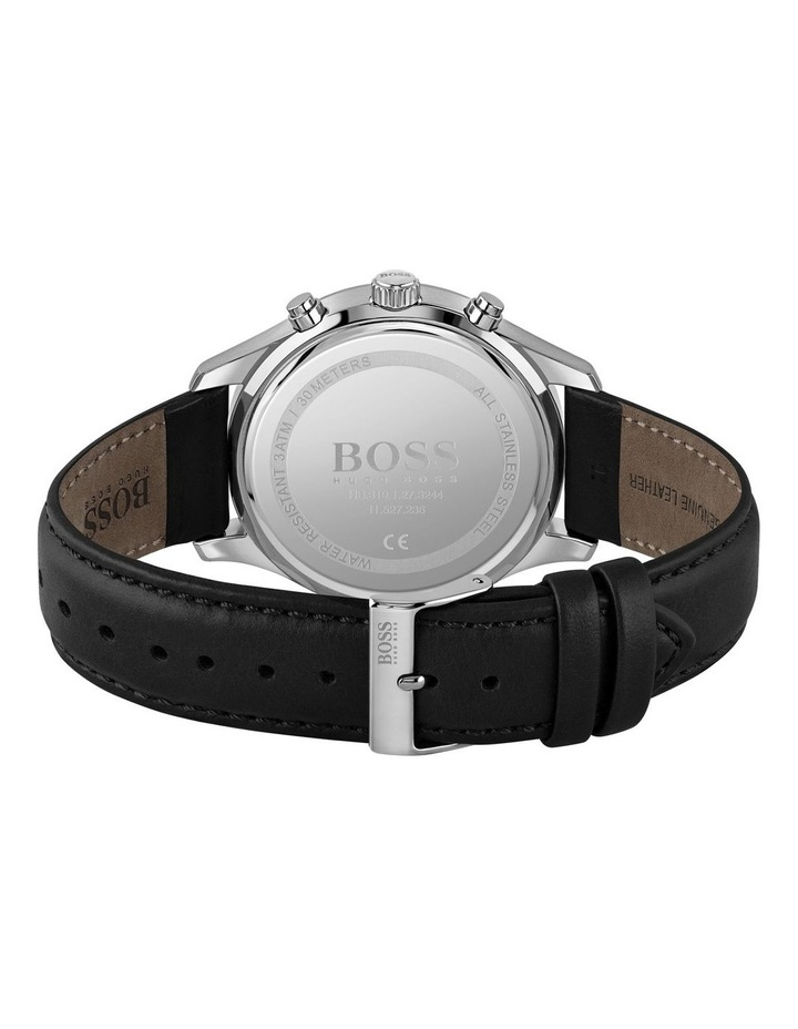 Black Leather Men's Watch - 1513790 image 3