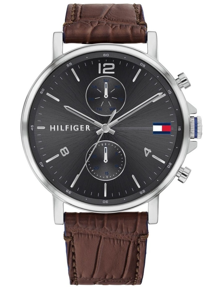 Brown Leather Men's Multi-function Watch - 1710416 image 1