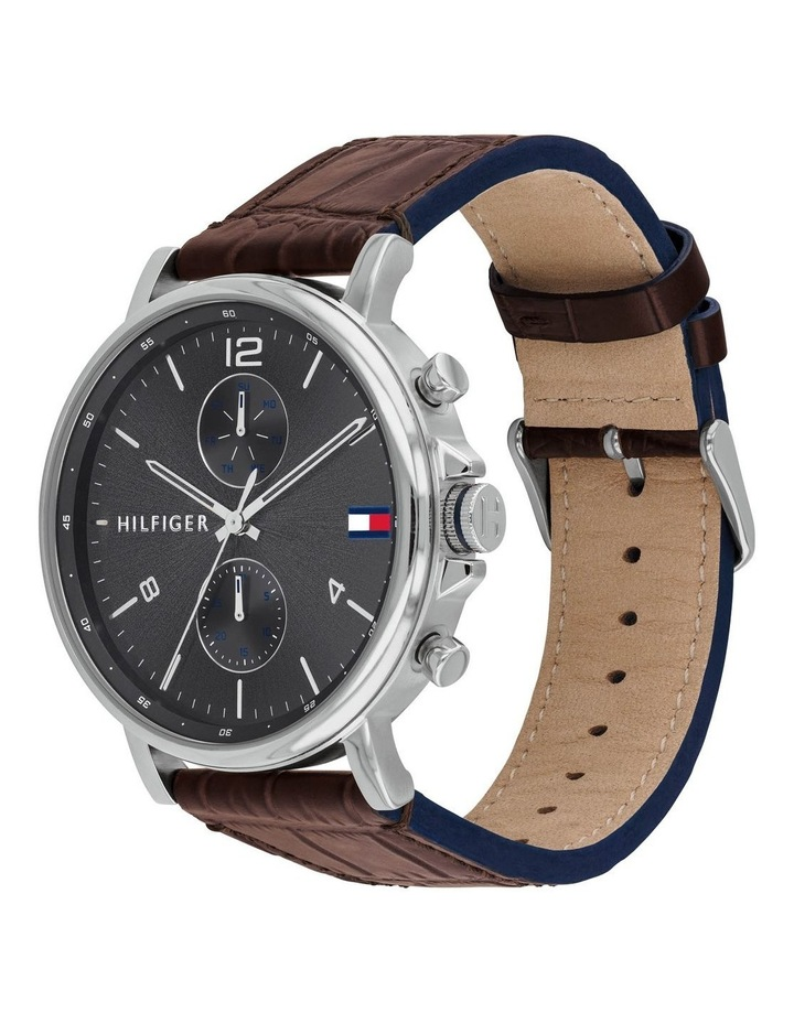 Brown Leather Men's Multi-function Watch - 1710416 image 2