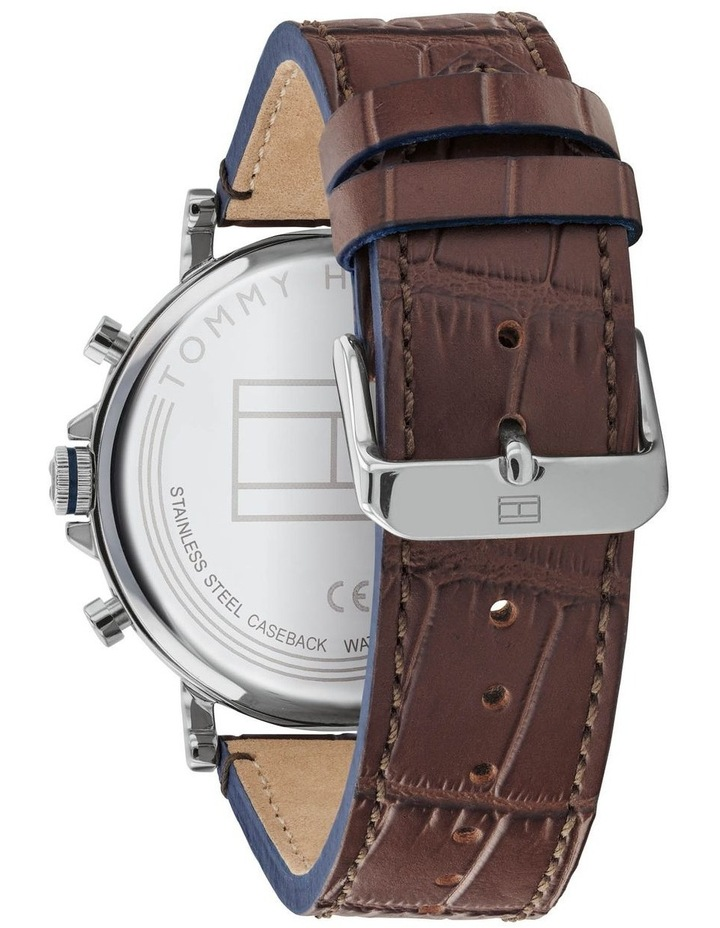 Brown Leather Men's Multi-function Watch - 1710416 image 3