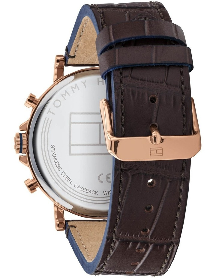 Brown Leather Men's Multi-function Watch - 1710418 image 3
