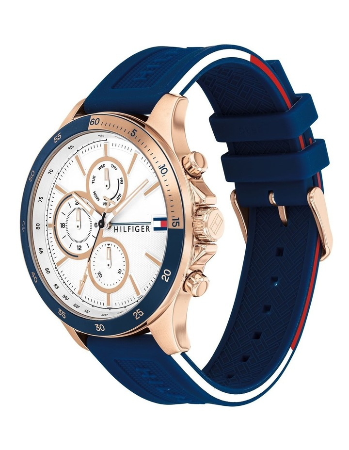 Bank Blue Silicone Mens Multi-function Watch - 1791778 image 2