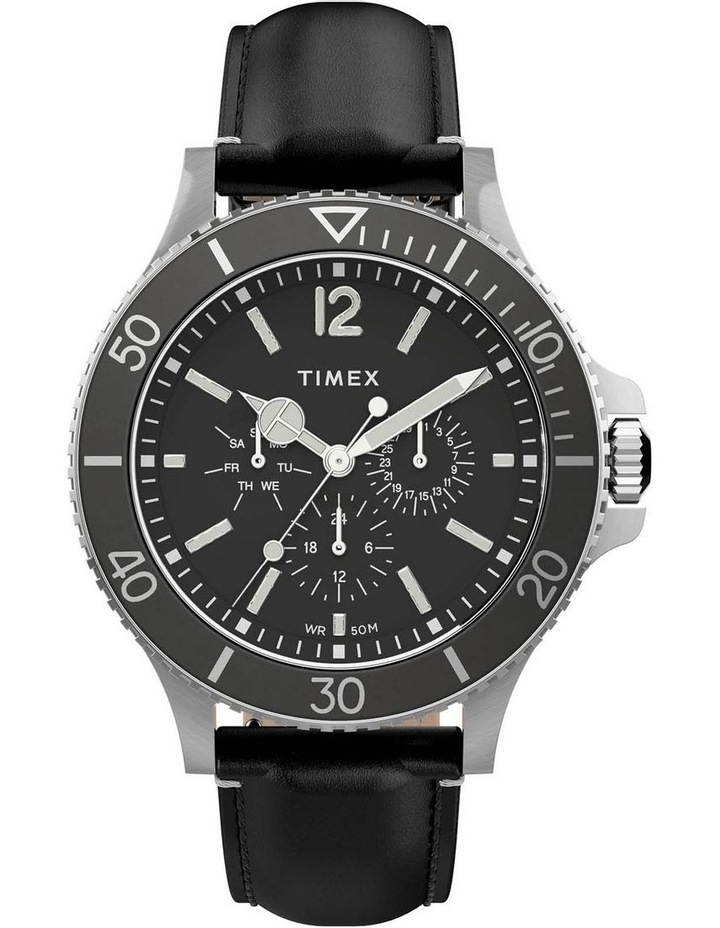 TW2U12900 Timex Harbourside Black Leather Watch image 1