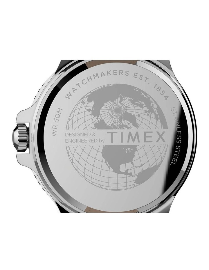 TW2U12900 Timex Harbourside Black Leather Watch image 4