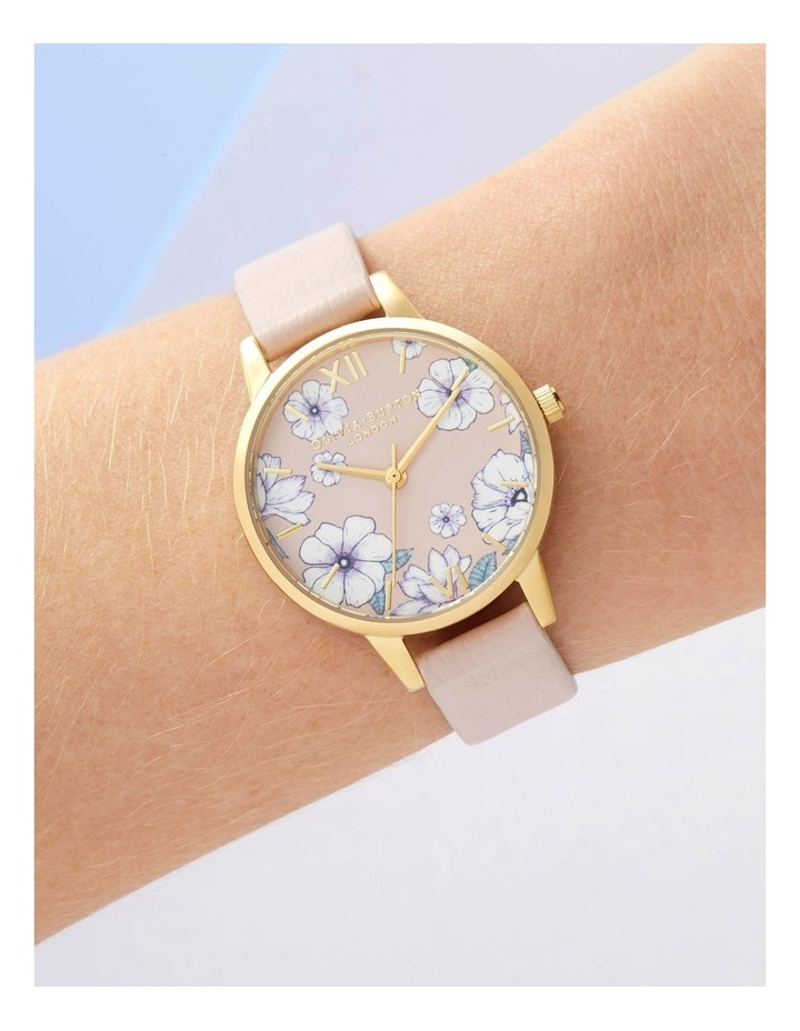 OB16AN04 Groovy Blooms Vegan Candy Pink & Gold Watch image 3