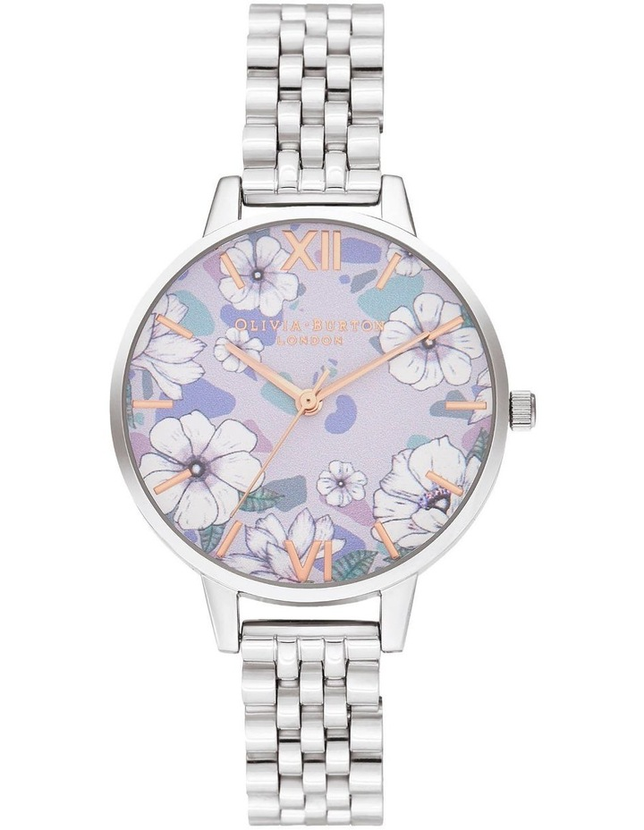 OB16AN05 Groovy Blooms Rose Gold & Silver Bracelet Watch image 1