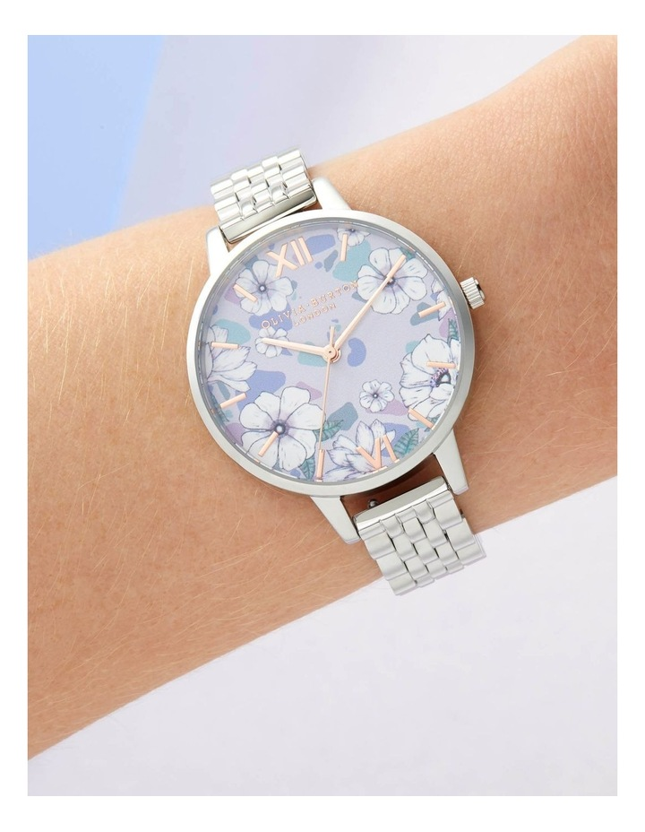 OB16AN05 Groovy Blooms Rose Gold & Silver Bracelet Watch image 3