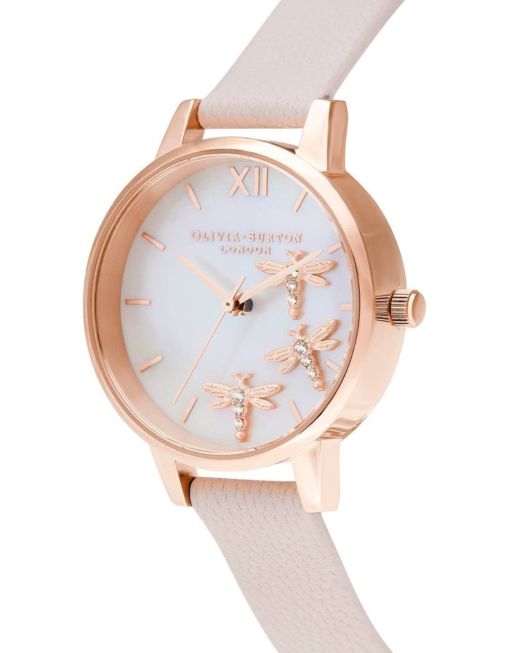OB16GB01 Dancing Dragonfly Blush Faux MOP Dial, Pearl Pink & Rose Gold Watch image 2