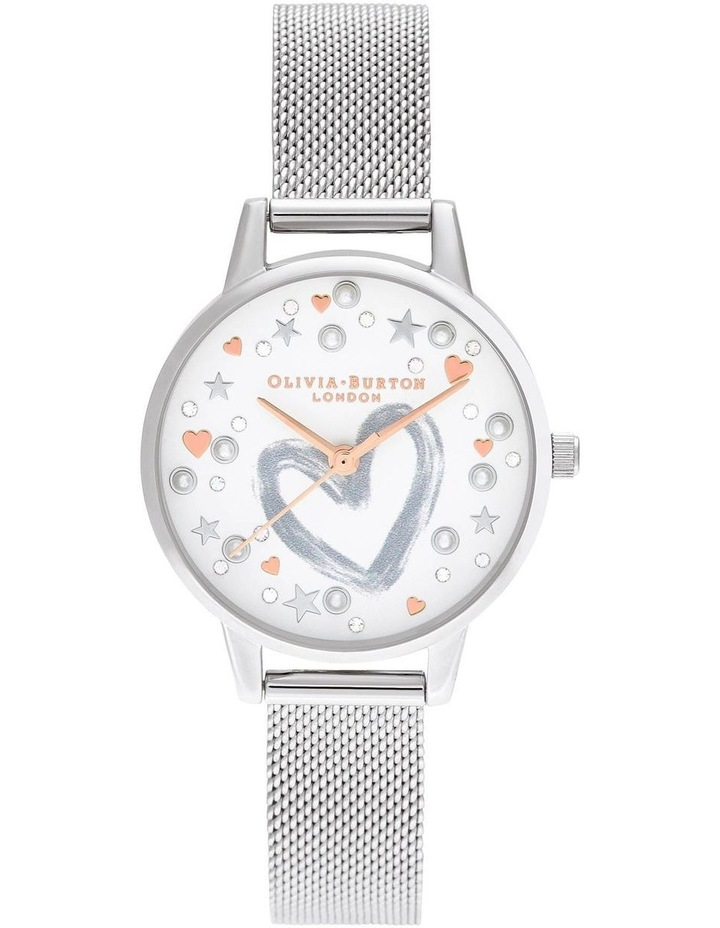 OB16LH12 You Have My Heart Rose Gold & Silver Mesh Watch image 1