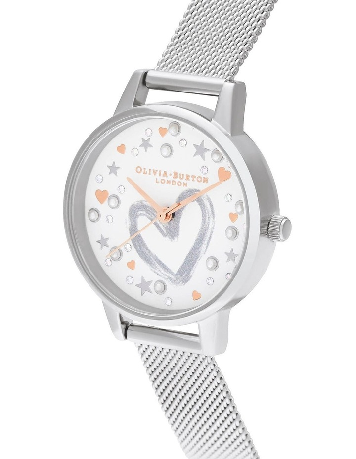 OB16LH12 You Have My Heart Rose Gold & Silver Mesh Watch image 2