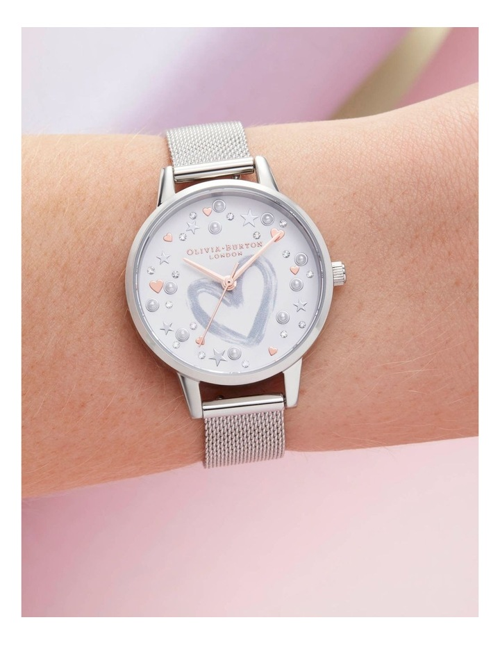 OB16LH12 You Have My Heart Rose Gold & Silver Mesh Watch image 3
