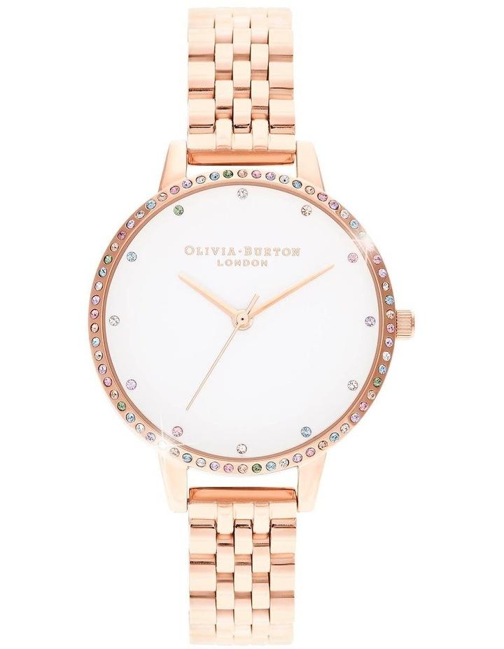 OB16RB21 Rainbow Bezel & Rose Gold Bracelet Watch image 1