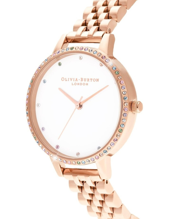 OB16RB21 Rainbow Bezel & Rose Gold Bracelet Watch image 2