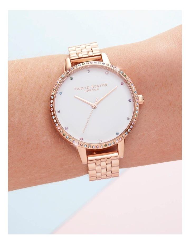 OB16RB21 Rainbow Bezel & Rose Gold Bracelet Watch image 3
