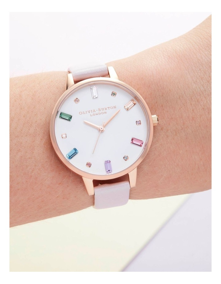 OB16RB22 Rainbow Blossom & Rose Gold Watch image 3
