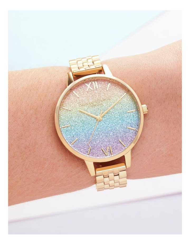OB16RB23 Rainbow Glitter Dial & Gold Bracelet Watch image 3