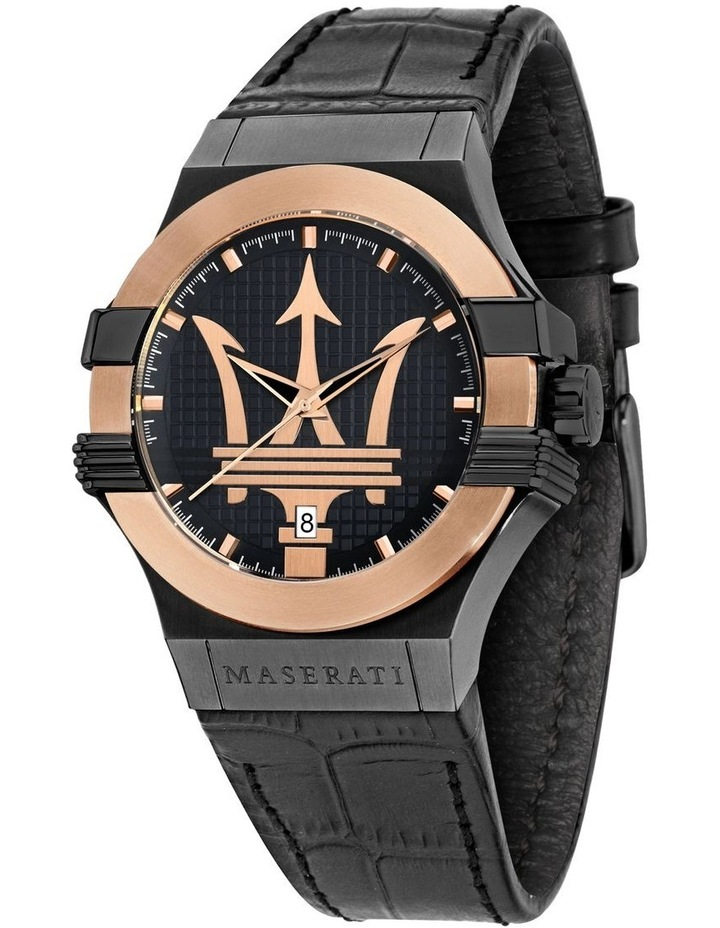 R8851108032 Potenza Black Rose Gold Watch image 1