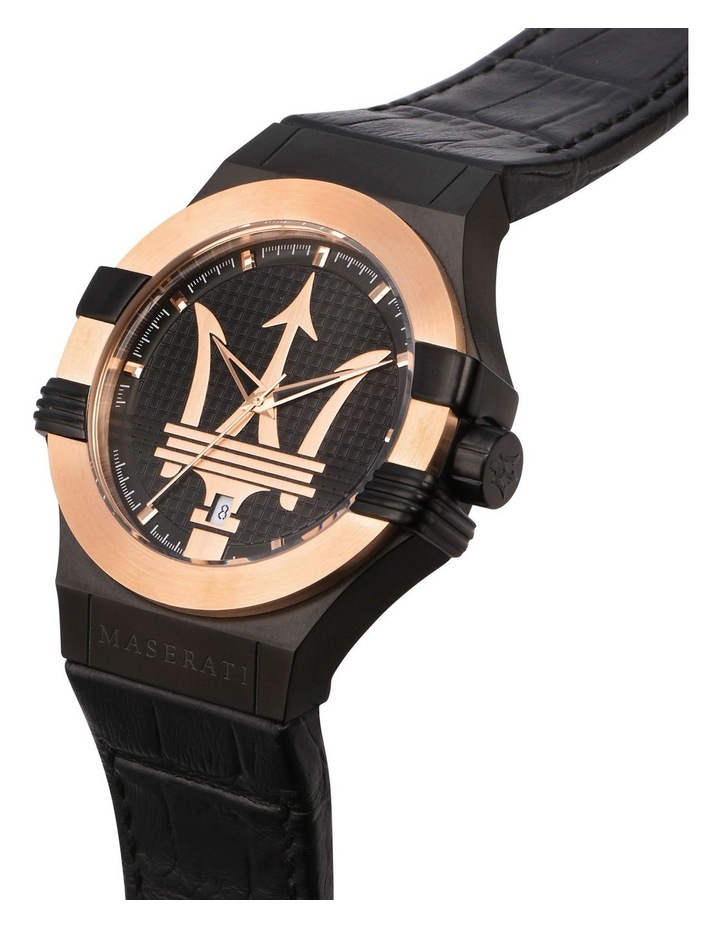 R8851108032 Potenza Black Rose Gold Watch image 4