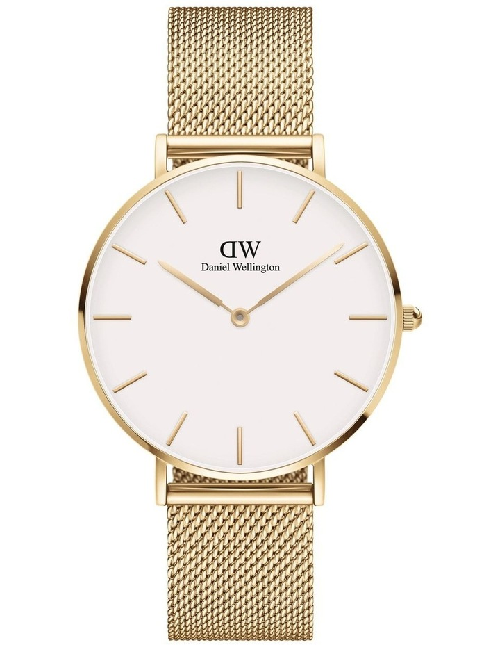 Petite 36 Evergold White Dial Gold Stainless Steel Quartz Watch image 1