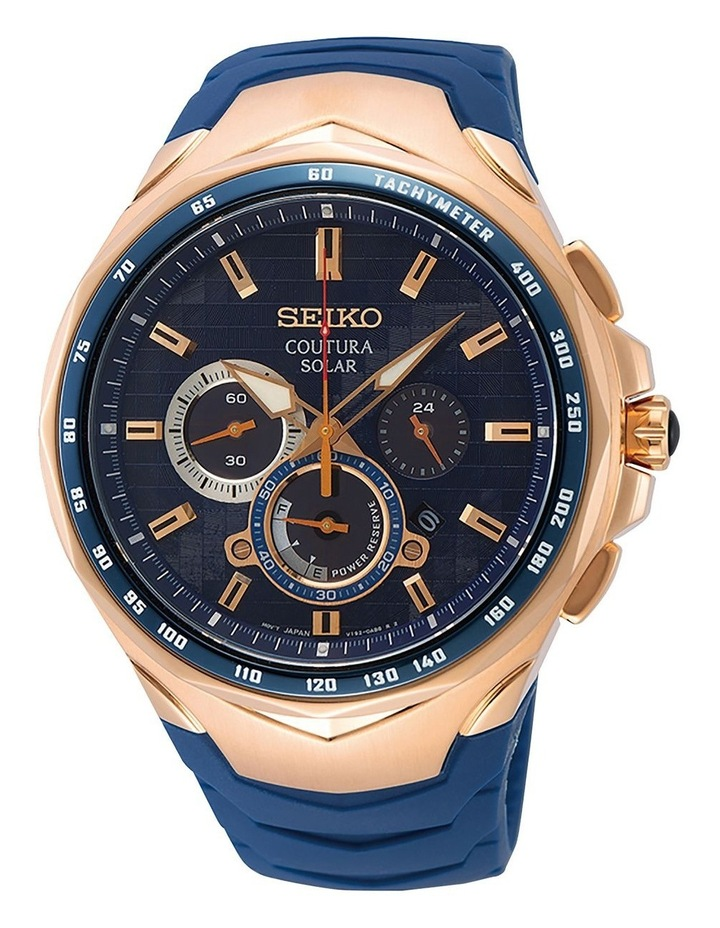Coutura SSC800P Solar Chronograph Blue and Rose Watch image 1