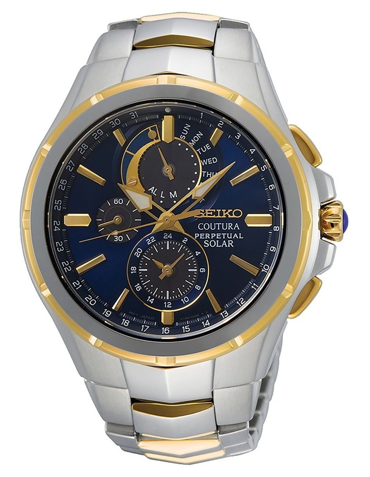 Coutura SSC798P Solar Perpetual Blue Dial Two Tone Watch image 1