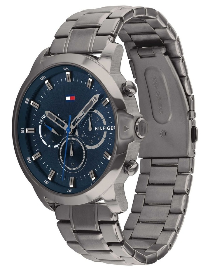 Tommy Hilfiger Grey Steel Men's Multi-function Watch - 1791796 image 2