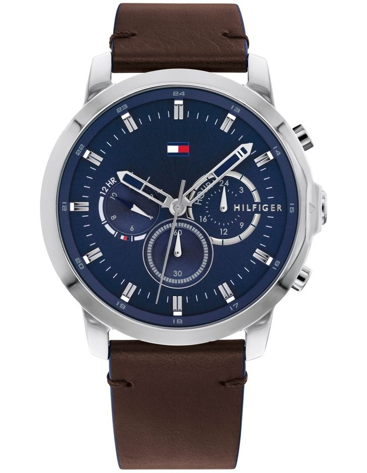Tommy Hilfiger Brown Leather Men's Multi-function Watch - 1791797 image 1