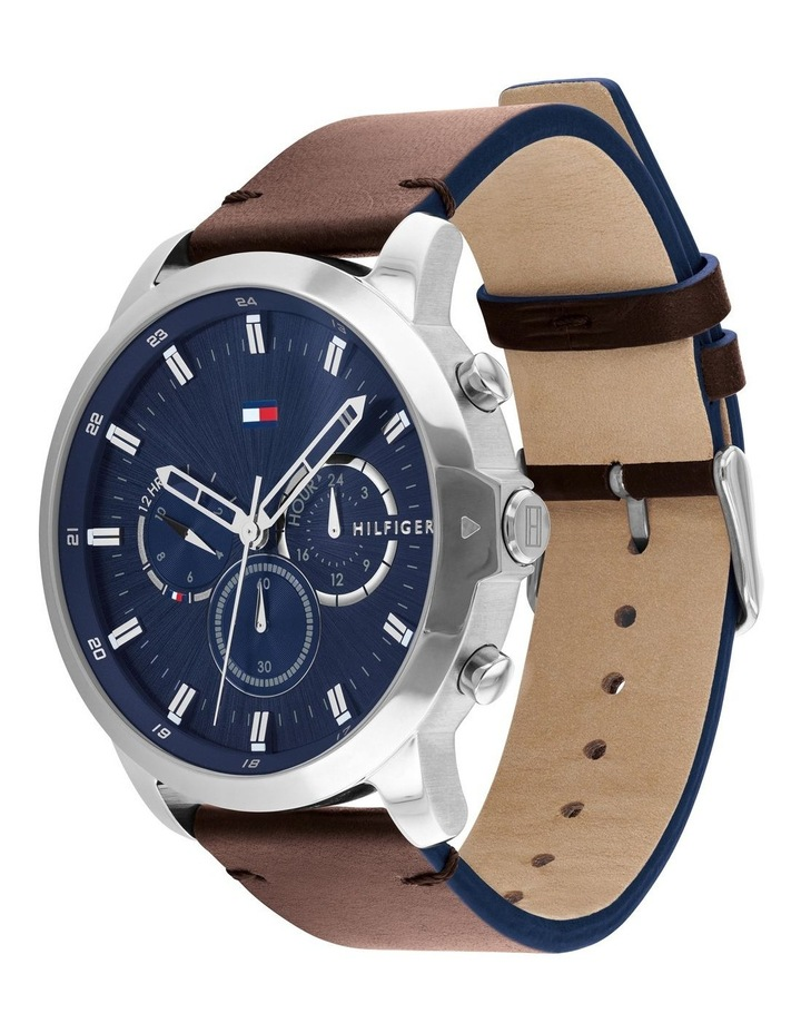 Tommy Hilfiger Brown Leather Men's Multi-function Watch - 1791797 image 2
