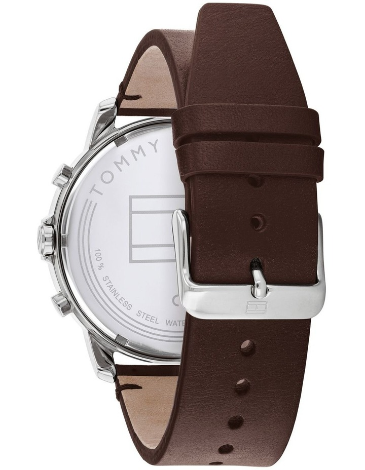 Tommy Hilfiger Brown Leather Men's Multi-function Watch - 1791797 image 3